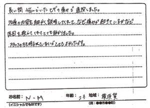 横須賀市 膝痛 20代 N.Mさん