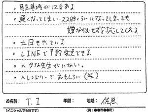 横須賀市佐原 T.Iさん